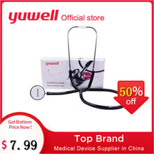 Yuwell Aluminum Alloy Double Head Medical Stethoscope Cardiology Chest Fetal Heart Medical Devices Doctor Home Health Care Tool