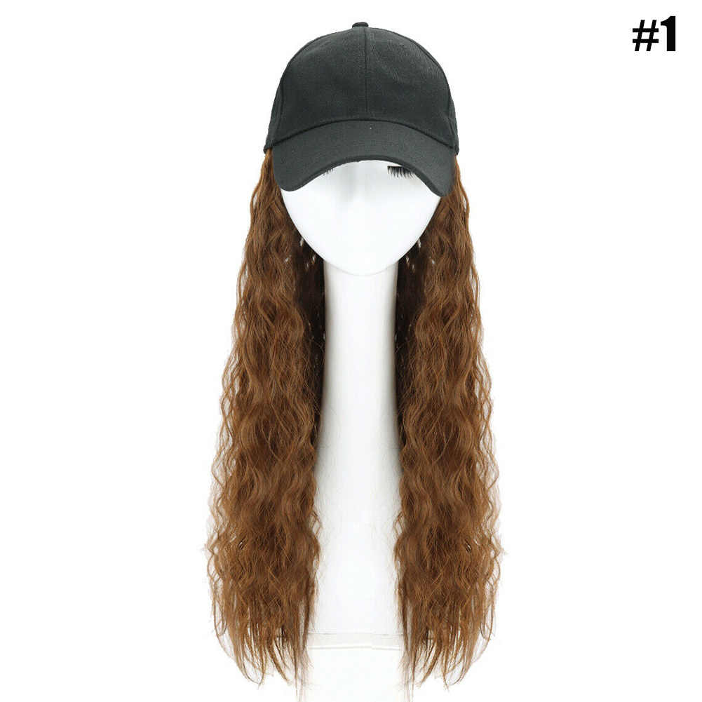 Best Hot Sale Baseball Cap with Synthetic Hair Extension Long Hair Wig Hat for Women ---MS