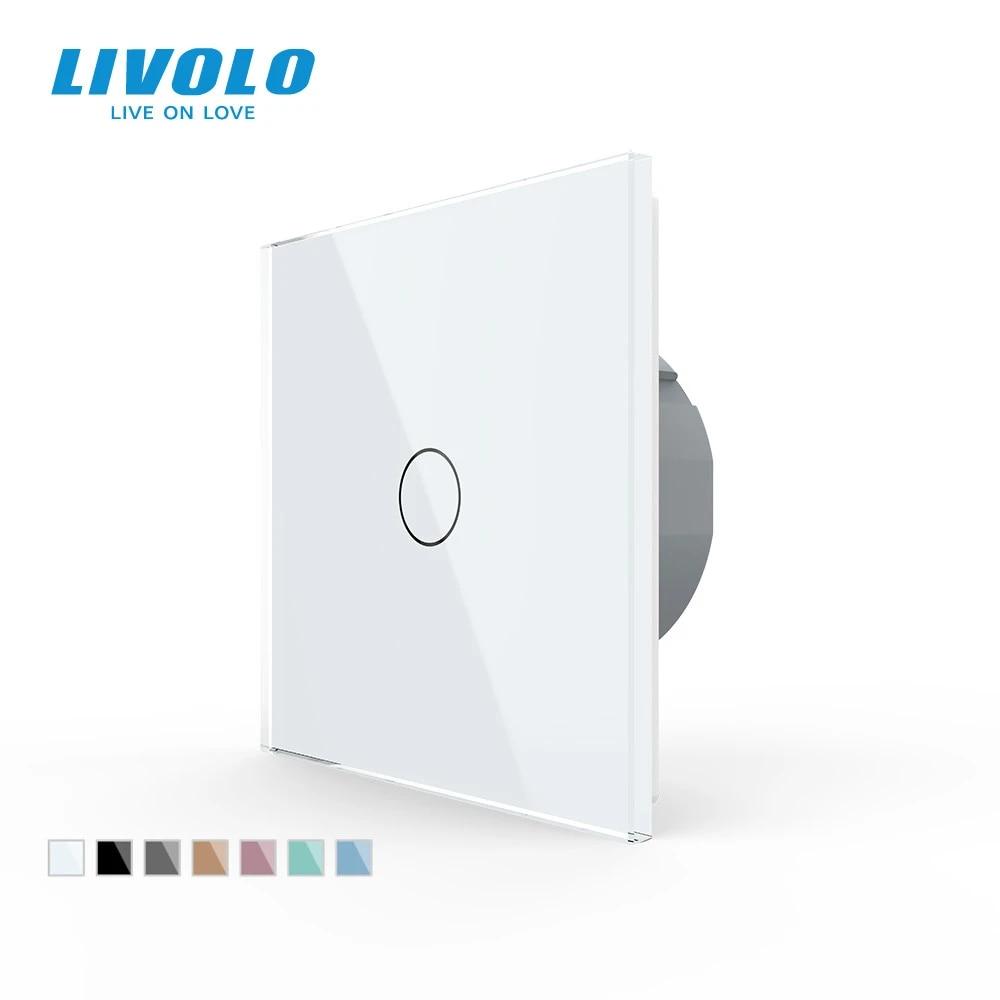 Livolo Schalter Kristall Glas Lichtschalter Wechselschalter Knopf