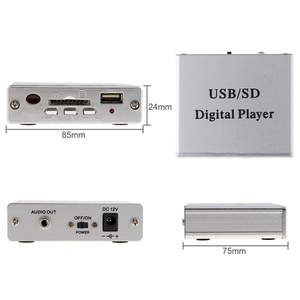 Image 4 - Dc 12vデジタルオートカーパワーアンプMp3 オーディオプレーヤーリーダー 3 電子キーパッド制御サポートusb sd mmcカード