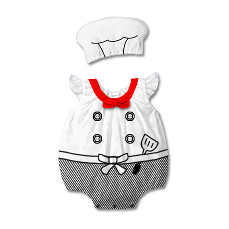 Baby Boys Cook Chef Costume Cosplay Rompers Jumpsuits For Infant Toddler Halloween Christmas Birthday Party Fancy Dress