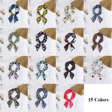 Scarf Headband Ribbons Neckerchief Cotton Small Thin Long Wrist-Belt Floral-Print Bohemian