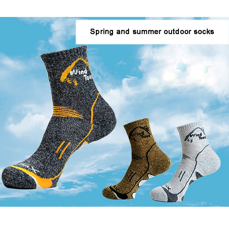 Outdoor Unisex Sport Socks Movement Comfortable Breathable Spring And Summer Tube Socks For Mountain Running