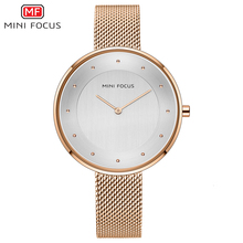MINI FOCUS Women Watches Luxury Dress Womens Top Brand Hand Clock Milanese Steel Lady Watch For Woman Rose Gold Quartz