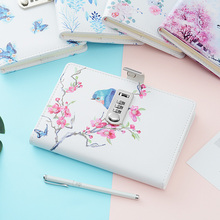 цена New Notebook paper Diary with lock code Business leather Notepad 100 sheets stationery Office school supplies онлайн в 2017 году