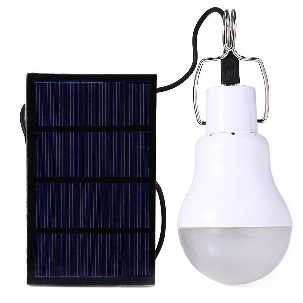 LED Solar Power Bulb Outdoor Waterproof Light Outdoor Portable Solar Panel Power LED Bulb Lamp Outdoor Camp Tent Fishing Light