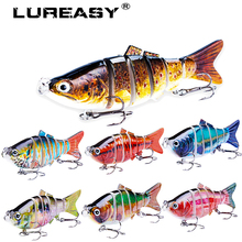LUREASY Crankbait 10CM 20G Fishing Lure Minnow Lifelike Multi-section Artificial Wobbler Sinking fishing carp bait  fishing Tool ilure osprey minnow fishing bait multi section slowly sinking lure with hooks