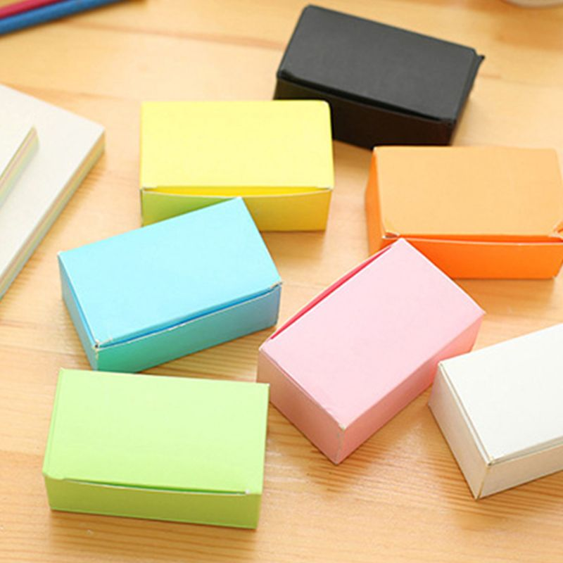 100 Pieces Black Cards White Blank Card Christmas Valentine's Day DIY Paper Box New 4