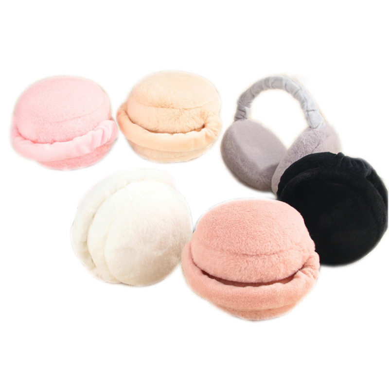 1pcs Fashion Cute Earmuffs For Women Imitation Rabbit Fur Winter Earmuffs Warm Female Ear Warmers Earflap Headband Wholesale