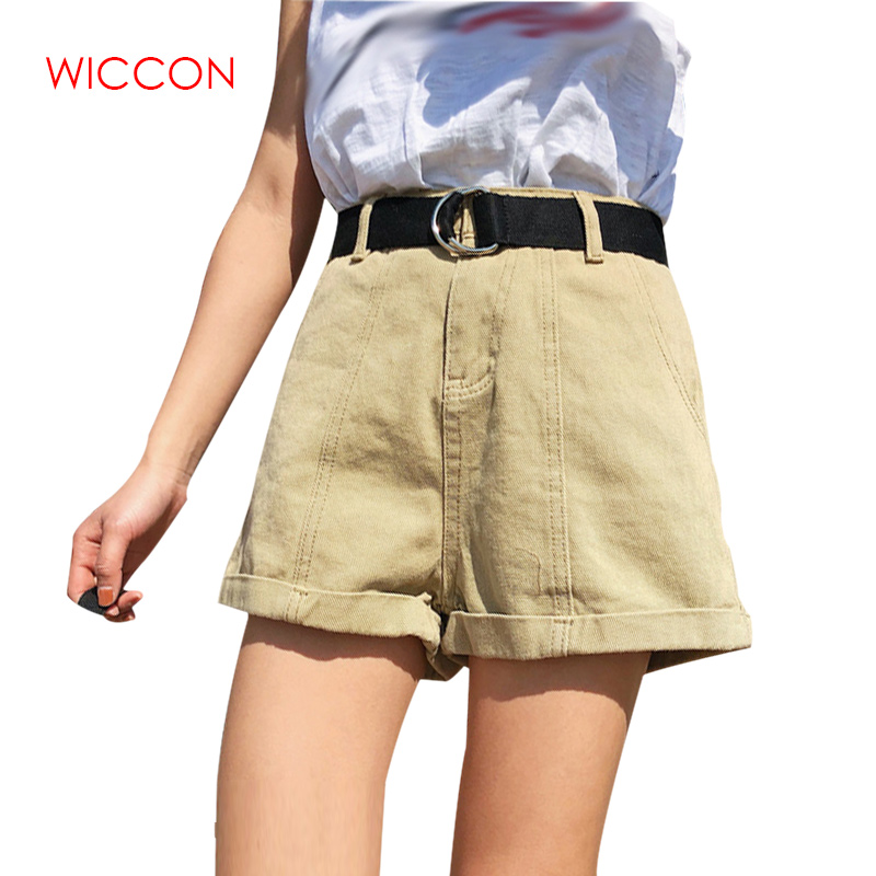 Plus Size 2020 Summer High Waist Shorts Feminino Denim Shorts Roll Up Jeans Womens Casual Shorts