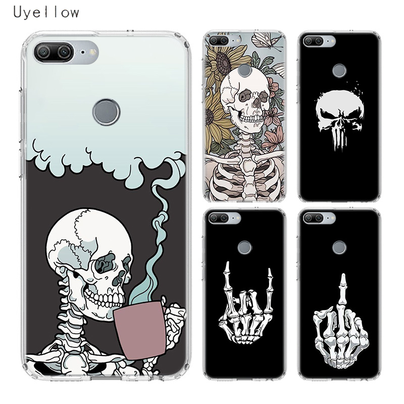 Uyellow Pirates Skull Luxury Phone Case For Huawei Honor 8A 8X 8C 8S 9 9X 10 20 lite Pro Play 20i V20 Silicone Cover