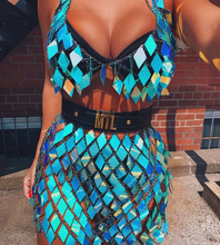 NEW Boho Sexy Sequins Body Chain Bra Belly Summer Beach Blue Bikini Chains Fashion Charm Harness Chain Body Accessories Jewelry