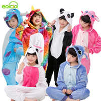 Pyjamas de noël enfants garçons filles pijama enfants Cosplay Animal Totoro unicornio Pikachu dinosaure Panda pyjama enfant