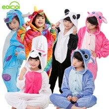 kigurumi Christmas pajamas Kids Boys Girls pijama Children s Onesie Animal Totoro unicornio Pegasus Dinosaur Panda