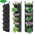 AIVY 1Pc107x30cm 6 карманов Вертикальная садовая сеялка настенный для выращивания цветов расти для сада во дворе, в офис, для украшения дома
