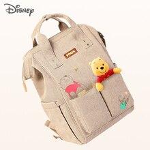 Nowy Disney Minnie Mickey torba na pieluchy plecak mumia torba do wózka macierzyńskiego o dużej pojemności pieluszka dla niemowląt torba do przewijania organizator