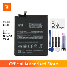 аккумулятор для телефона ibatt bn31 для xiaomi mi 5x mde6 5x Original Xiaomi BN31 Mi 5X Phone battery For Xiaomi Mi 5X Mi5X Redmi Note 5A 5A pro 3080m