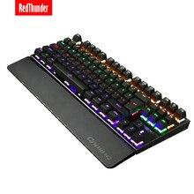 RedThunder Backlit Mechanical Bàn Phím Màu Xanh Dương Công Tắc 87 Phím 100% Chống hiện tượng bóng ma Lớn Có Thể Tháo Rời Tay Phần còn lại cho game Thủ