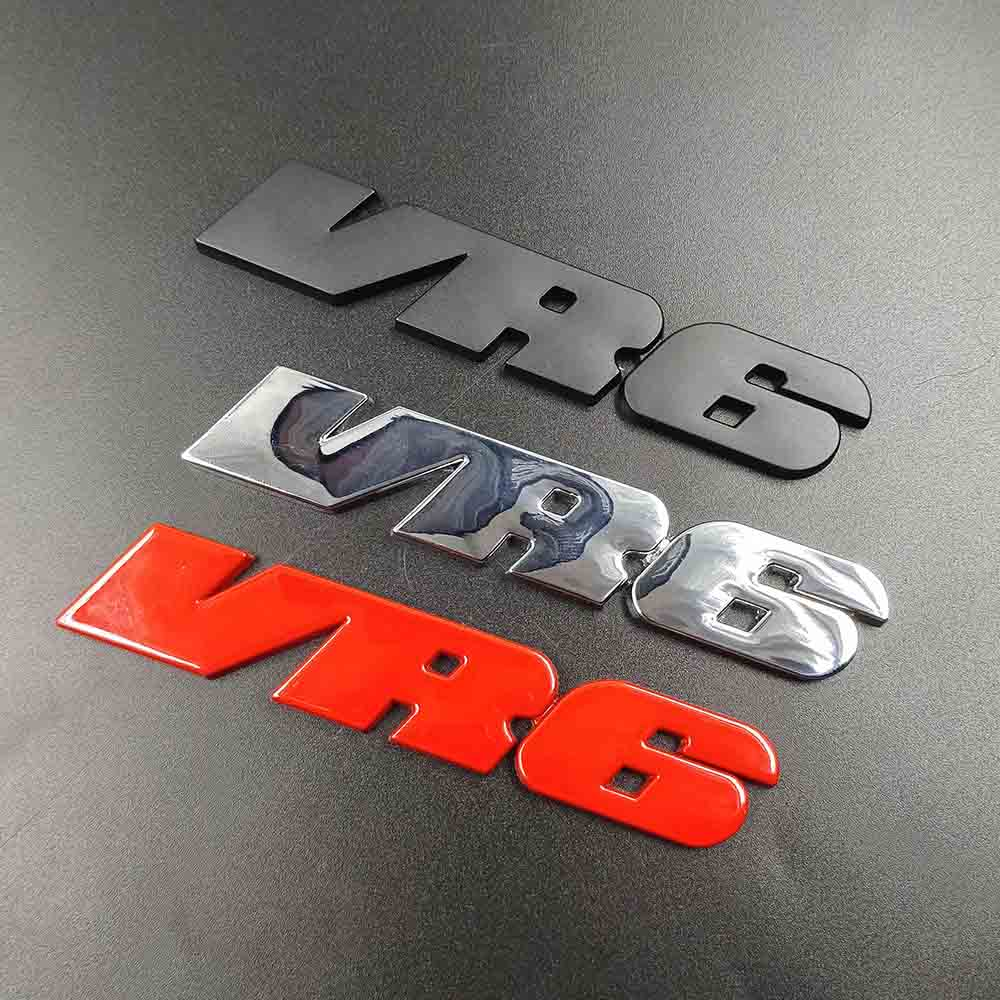 3D Metal keychain sticker car Body Rear Trunk Emblem Badge Car styling Decal for Volkswagen <font><b>VW</b></font> <font><b>VR6</b></font> POLO GLI <font><b>Golf</b></font> 6 7 <font><b>MK3</b></font> MK5 6 7 image