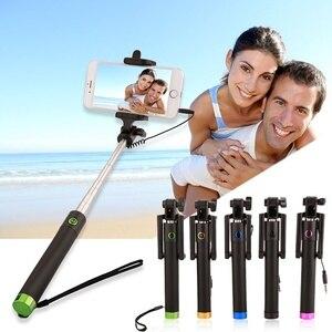 Image 1 - Selfiestick extensível para huawei p30 p20 companheiro 20 pro lite p inteligente 2019 nova 4 3 3i com fio selfie vara bastone selfi para movil