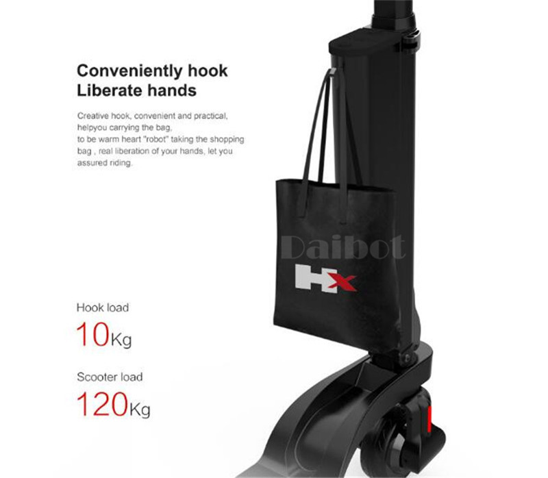 HX X6 Folding Electric Scooter Two Wheel Electric Scooters Mini Protable Backpack E-Scooter Electric Bike Ebike                  (2)
