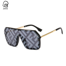 DAVE New Design Letters Watermark Big Frame Sunglasses Women