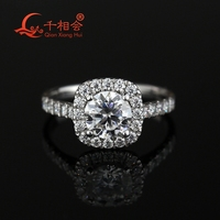 1ct  6.5mm round Brilliant Cut  cushion shape Moissanite Ring Engagement Wedding Gifts Ring Band For Women 1