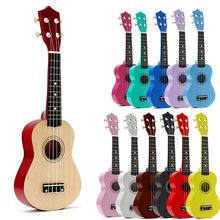 "21 ""Soprano Ukulele Basswood Akoestische Nylon 4 Strings Ukulele Basgitaar Muziekinstrument Voor Beginners Of Basic Spelers(China)"