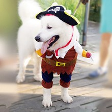 Hot Sale Pet Dog Costume Cool Pirates Of The Caribbean Style Cat Costumes Halloween Cosplay