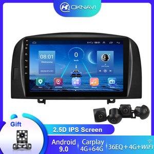 Android 9.0 9 inch Carplay 4G WIFI DSP BT Radio Video Player For HYUNDAI SONATA NF 2004-2008 Head Unit GPS Navigation No DVD