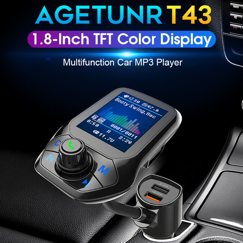 Car Bluetooth FM Transmitter MP3 Player Hands Free Radio Adapter USB Charger JHP-Best
