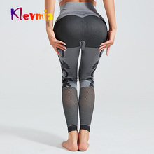 цены Camo Panel Seamless Leggings Women High Waist Sport Pants Women Mesh Sport Leggings Fitness Clothing Runnings Gym Yoga Pants