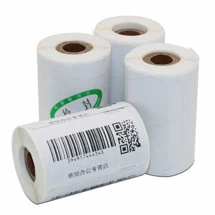 แบบพกพาเครื่องพิมพ์ความร้อนกระดาษป้ายสติกเกอร์บาร์โค้ดกระดาษกล่าวว่ากระดาษ 60 มม.30 มม.800 และ 70 มม.50 มม.600