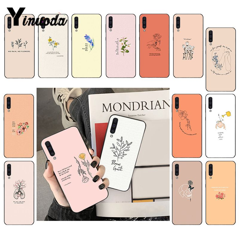 Yinuoda Great Aesthetic Flower Art  Phone Case For Samsung Galaxy A7 A50 A70 A40 A20 A30 A8 A6 A8 Plus A9 2018