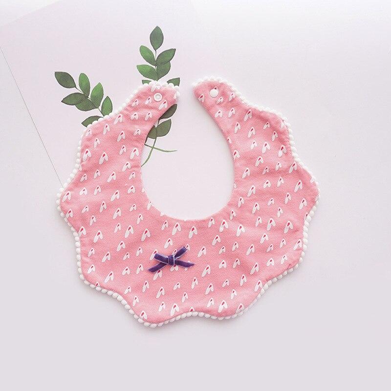 Korean Style Cute Cotton Soft Baby Bib Saliva Towel Fake Collar Scrub Flower Wavy Saliva Bow Burp Cloth Bibs Baby Accessories (5)