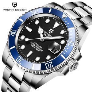 NH35A Top marque 2020 hommes automatique mécanique montre-bracelet en acier inoxydable saphir verre hommes montres Reloj Hombre PAGANI Design