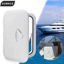 270*375mm ABS Deck Marine Hatch Door Deck Access Hatch Boat Hatches Inspection Yacht Cover RV White