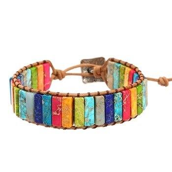 Bracelet Equilibre Des 7 Chakras En Jasper