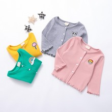 2019 Girls Jackets Cartoon Long-sleeve Cardigan Coat For Girl Spring Autumn Cotton Thread Children's Jacket Kids Clothing все цены