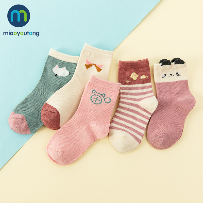 5 Pair Jacquard Cat Unicorn Rabbit Comfort Warm Cotton High Quality Kids Girl Baby Socks Child Boy Newborn Socks Miaoyoutong