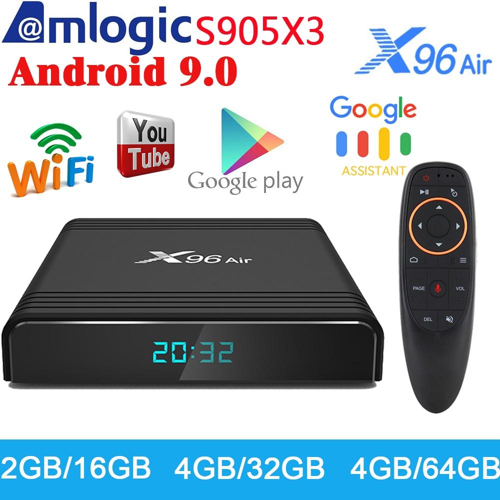 Przedsprzedaż X96 Air Android 9.0 smart tv Box Amlogic S905X3 odtwarzacz multimedialny 4GB 32GB 64GB obsługa 4K WIFI H.265 dekoder 2G 16G w Dekodery STB od Elektronika użytkowa na AliExpress - 11.11_Double 11Singles' Day 1