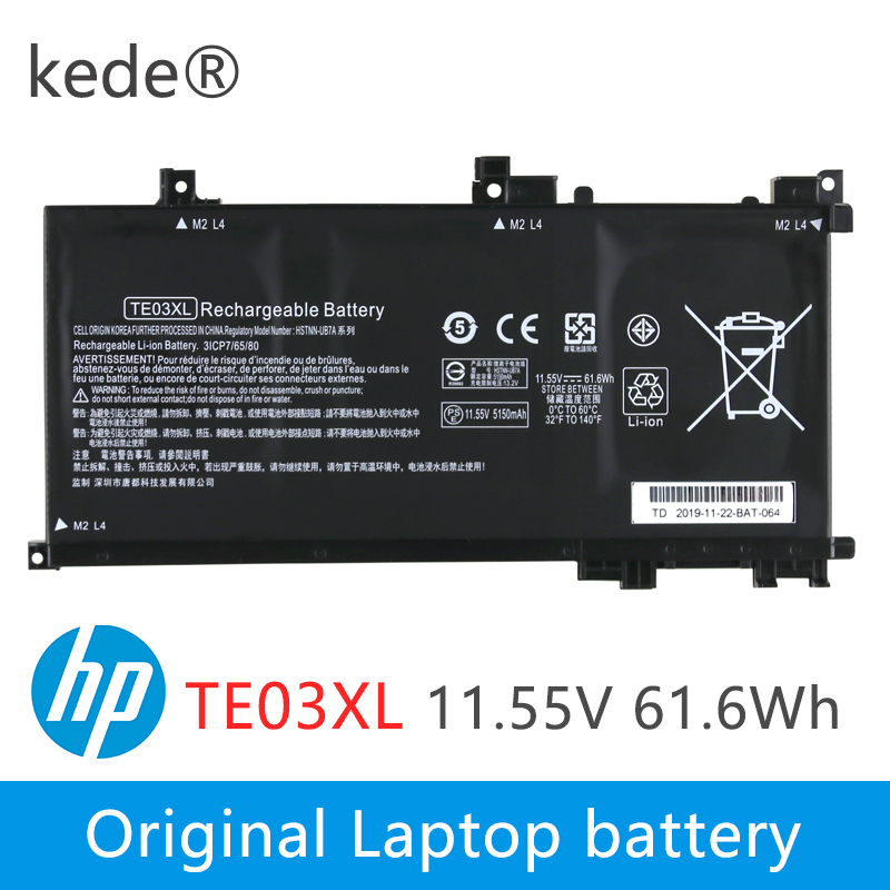 Kede  11.55V 61.6WH TE03XL Laptop Battery For HP TPN-Q173 HSTNN-UB7A 115-bc011TX 15-bc012TX 15-bc013TX 15-AX015TX 849910-850