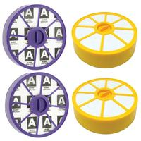 Lavável pré filtro do motor e pós alergia hepa filtro kit para dyson dc19 dc20 dc29 aspiradores de pó (2 de cada)