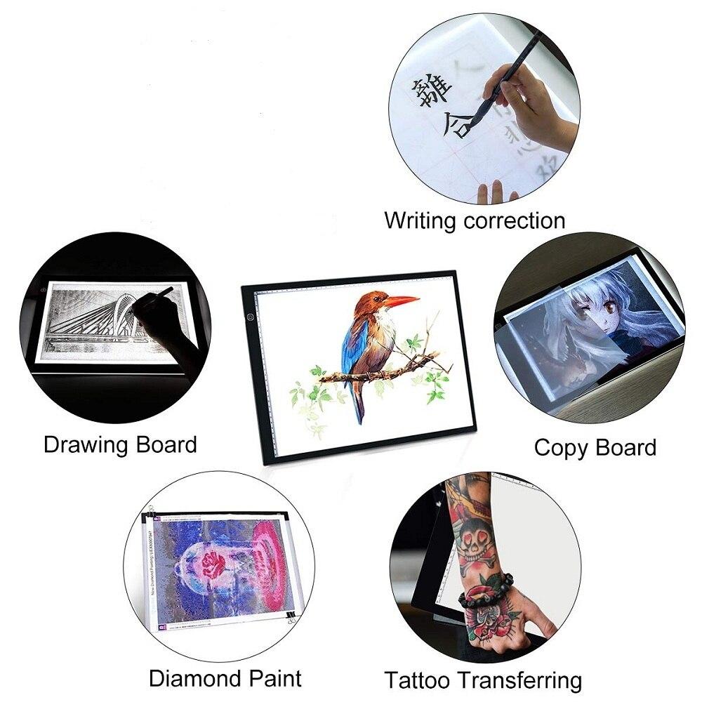 Image 5 - графический планшет для рисования  A4 Светодиодный световой короб   , планшета, цифровой Трасер, лист для копирования, доска для алмазной  живописи, эскиз, Исправление горный хрусталь-in Цифровой планшеты from  Компьютеры и офисная техника on AliExpress