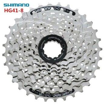 Shimano HG41 8 prędkości 11-32T MTB Mountain Bike rower 8S HG41-8 kaseta Freewheel 8-biegowa koło zamachowe mechanizm korbowy części rowerowe 312g