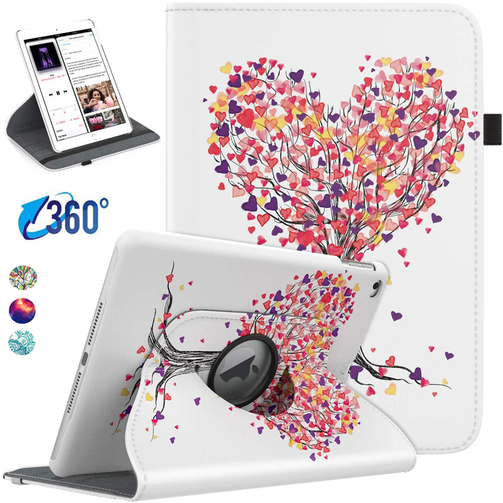Coolaxy Cover Case For IPad 10.2 Case 360 Degree Rotating Stand Case For IPad 2019 Case For IPad 7th Generation