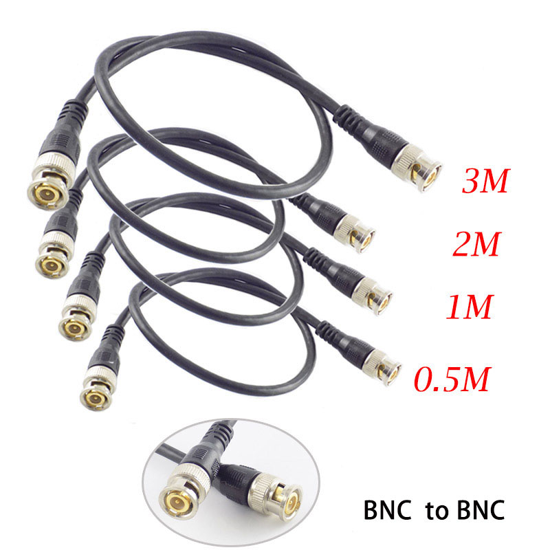 0.5M/1M/2M/3M BNC Male To BNC Male Adapter Connector Cable Pigtail Wire For CCTV Camera BNC Connection Cable Accessories K8