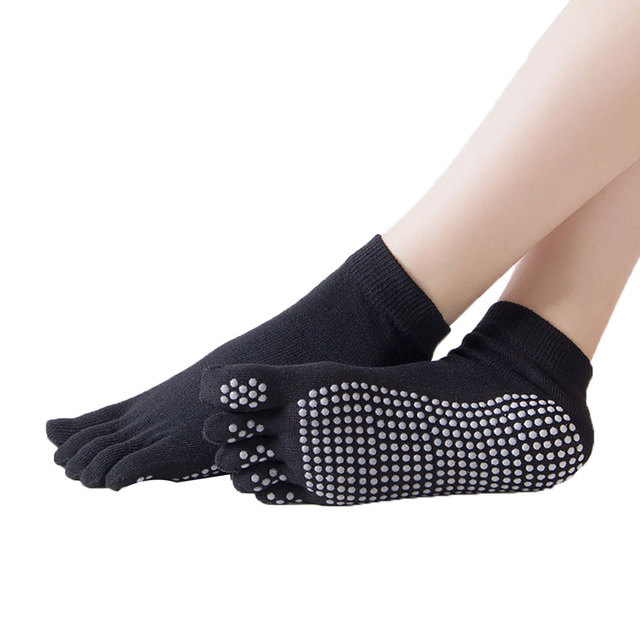 Women Socks Anti slip Five Fingers Backless Silicone Non slip 5 Toe Socks Ballet Gym Fitness