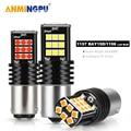 ANMINGPU 2x Signal Lampe Bay15d Led 1157 P21 5W 3030SMD Super Helle BA15S P21W BAU15S PY21W 1156 LED Für auto Bremse Backup Licht