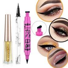 Sexy encantador eye liner caneta longa duração à prova dglitter água glitter eyeliner olhos sombra maquiagem ferramentas de beleza cosméticos lápis delineador